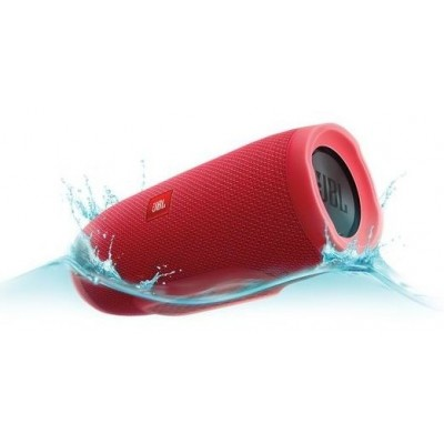 JBL Charge 3 Waterproof portable Bluetooth speaker, Red - JBLCHARGE3REDAM