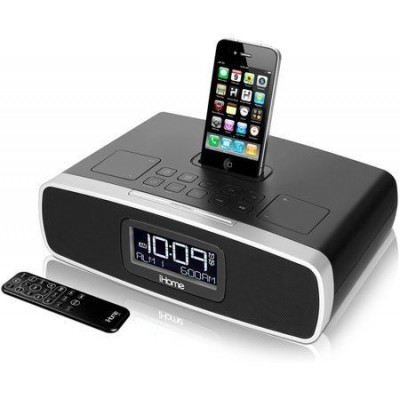 iP90: iHome Dual Alarm Clock Radio for iPhone/iPod with AM/FM presets