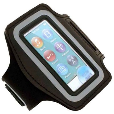 For iPod Nano 8 ( 8th Generation ) - Coverking Gym Sport Armband with Key Holder Pocket - Black
