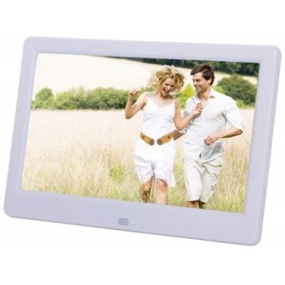 White,Digital Photo Frame 10inch HD TFT-LCD Digital Photo Frame Alarm Clock MP3 MP4 Movie Player