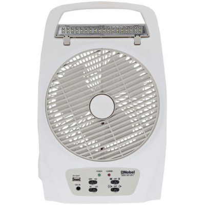 Nobel Rechargeable Box Fan with 8 LED Lights - NBF-85RCL