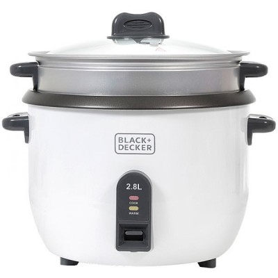 Black & Decker 2.8 Liter Non-Stick Rice Cooker - White, RC2850-B5